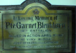 Plaque – This plaque is posted in my Mother's church.