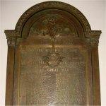 Commemorative Plaque – WWI Memorial Plaque located in the Victoria-Royce Presbyterian Church (est. 1885), 190 Medland St., Toronto, ON.