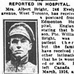 Newspaper Clipping (2) – Pte. Albert Edward Bright is mentioned in this article about his brother.