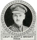 Photo of Albert Bright – From: The Varsity Magazine Supplement published by The Students Administrative Council, University of Toronto 1918.   Submitted for the Soldiers' Tower Committee, University of Toronto, by Operation Picture Me.