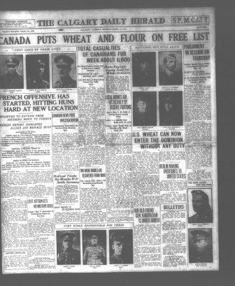 Newspaper clipping – Newspaper Article from The Calgary Daily Herald