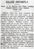 Newspaper clipping – From the Daily Colonist of July 3, 1917. Image taken from web address of https://archive.org/stream/dailycolonist59y176uvic#page/n0/mode/1up