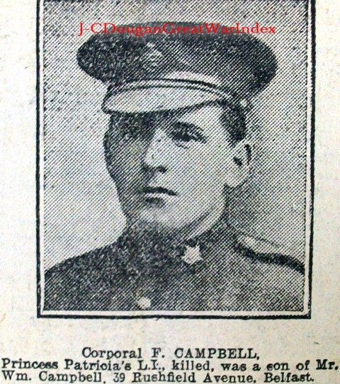 Newspaper Clipping – One of Ireland's Brave Sons. Lest We Forget.