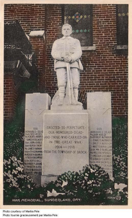 Sunderland Ontario War Memorial