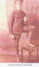 Photo of George Downing – FROM: Magnetawan Legion Book of Remembrance, 1914