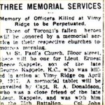 Newspaper Clipping – Original article describing the unveiling of the memorial tablet dedicated to Lt. William Henderson Gregory.