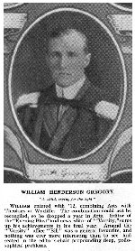 Photo of William Gregory – Torontonensis 1913 (University of Toronto Year Book), pg. 46.