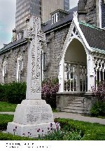 War Memorial – War Memorial dedicated to the members of St. Paul's Presbyterian Church who lost their lives in the first and second World Wars.  Located on the grounds of the church at 70 James Street South in Hamilton, Ontario.