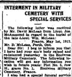 Newspaper Clipping 5 – Clipping from the Perth Courier for 1 June 1917.