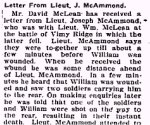 Newspaper Clipping – From the Perth Courier for 18 May 1917.