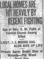 Newspaper clipping – CALGARY DAILY HERALD 16 APRIL 1917