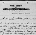 War Diary – 5th Canadian Field Ambulance. War Diary for April 1917, page 16, recording death of Private C. Stagg.