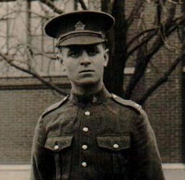 Photo of Charles Alfred Watts – George Watts's brother Charles who was born April 2, 1893.  He enlisted with the 68th Battalion on November 2, 1915 in Weyburn, Saskatchewan. He was discharged and then reenlisted October 13, 1917 in Toronto, Ontario.   After the war, Charles returned home and eventually married Eliza Quinn of York on December 30, 1918.