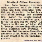 Newspaper Clipping – Lt. John Youngs was awarded the Military Cross in 1916.