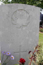 Grave Marker – Died of wounds received in the attack on Caix. Photo and additional information provided by The Commonwealth Roll Of Honour Project. Volunteer Mike Symmonds