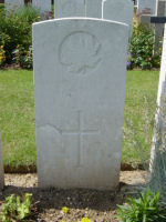 Grave Marker – Photo provided by The Commonwealth Roll Of Honour Project. Volunteer Mike Symmonds
