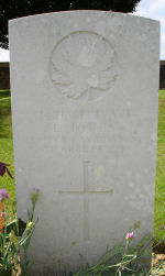 Grave Marker – Died of wounds. Photo and additional information provided by The Commonwealth Roll Of Honour Project. Volunteer Mike Symmonds