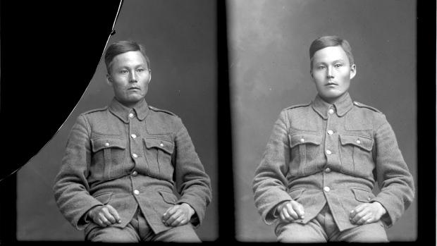 Photo of John Shiwak – 1915, 1st Royal Newfoundland Regiment