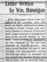 Newspaper clipping – GRANDE PRAIRIE HERALD WENDSDAY NOVEMBER 1 1916