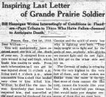 Newspaper clipping – GRAND PRAIRIE HERALD NOVEMBER 7 1916
