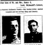 Newspaper Clipping – From the Perth Courier for 6 October 1916.
