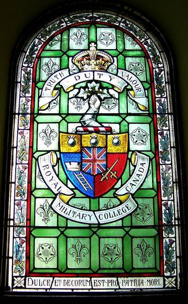 Memorial Stained Glass – Royal Military College of Canada memorial stained glass window
