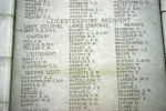 Inscription – Tyne Cot Memorial Panel photo courtesy of Wilf Schofield, England