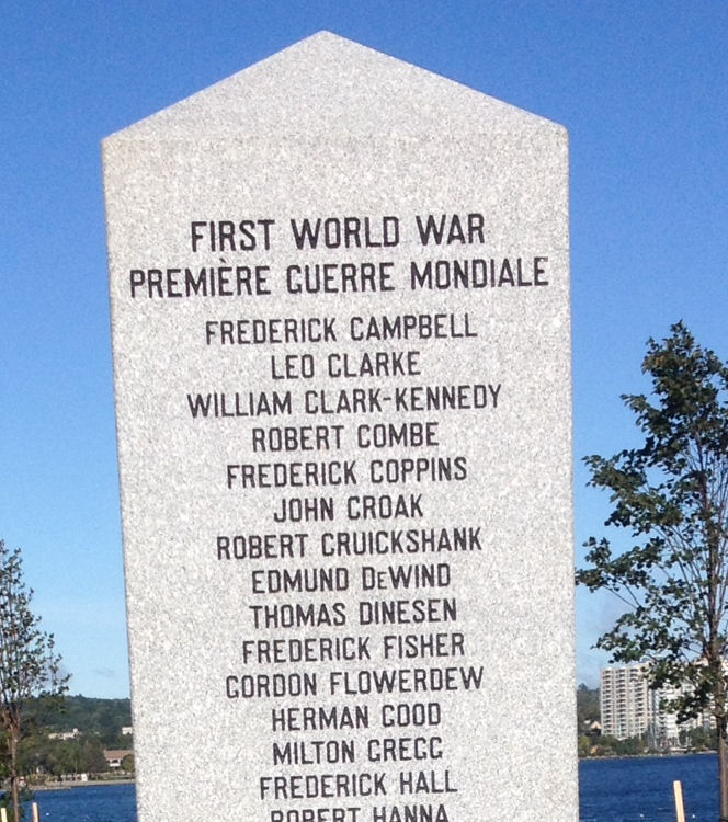 Cenotaph – Barrie Military Park, Canadian Victoria Cross Recipients, Cenotaph