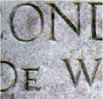 Inscription – Memorial inscription honouring 2 Lieutenant De Wind at Pozieres British Cemetery.  Photo courtesy of Craig B.Cameron