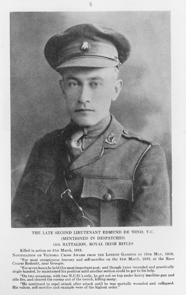 Photo of Edmund de Wind – From Vol 1 of Letters From The Front By The Canadian Bank Of Commerce.