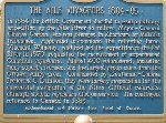 Memorial Plaque – Ontario historical plaque about the Nile Voyageurs.  The plaque is located in Ottawa at the Kitchissippi lookout on the Ottawa River Parkway.