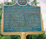 Plaque – Ontario historical plaque about the Nile Voyageurs.  The plaque is located in Ottawa at the Kitchissippi lookout on the Ottawa River Parkway.