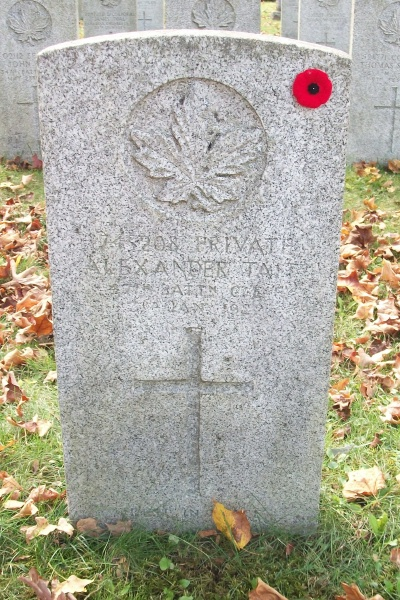 Grave Marker – Grave marker - Mount Pleasant Cemetery, London, ON - October 2017 … photo courtesy of Marg Liessens