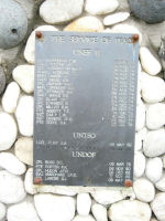 Inscription – UNDOF Memorial: CFSCE Museum,CFB Kingston, Ontario.  Courtesy of Canadian Forces Joint Signal Regiment