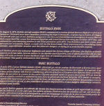 Memorial – This plaque, describing the circumstances of the incident in which 9 Canadian Forces personnel were killed on August 9, 1974 near Damascus, Syria, while on a United Nations mission, is affixed to the Buggalo Memorial at Buffalo Park, Calgary, Alberta.