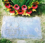 Grave Marker – Cpl. Michael William Simpson's Grave - Blessed are the Peacekeepers