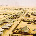 Camp Shams – , Ismailia, Egypt, 1974. This view of Camp Shams, the Canadian Contingent United Nations Emergency Force (Middle East) compound at Ismailia, Egypt, was photographed by Cpl. Michael W. Simpson in the summer of 1974.