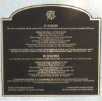 Memorial – Plaque listing passengers and crew members of United Nations Flight 51, Buffalo 115461 shot down by Syrian Armed Forces near Damascus, Syria on Agust 9, 1974. This plaque is affixed to the memorial at Buffalo Park, Calgary, Alberta.