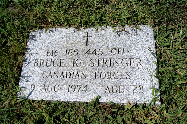 Memorial tablet – Memorial tablet on the ground, a few feet from the family monument, in Angus Union Cemetery, 60 Vernon Street, Angus, Ontario.  (Image taken by Gregory J. Barker of Barrie, Ontario, in 2017.)