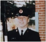 Photo of Mark Robert Isfeld – Mark's most precious and proud moment.  This photo was taken by his mother Carol with disk camera at his graduation from the School of Military Engineering in Chilliwack, BCCourse OL 3 8604, 05AUG86 - 12DEC86, 041 FD ENG