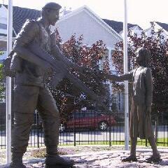 Memorial – Mark Isfeld, Memorial sculpture, Dallaire Ave, Peacekeeper Park