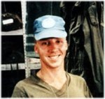 Mark Isfeld in Kuwait – Mark Isfeld in Kuwait May 1991.  OP RECORD His mother's favorite Picture.