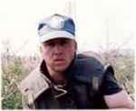 Mark Isfeld in Croatia, photo 2 – Mark Isfeld in Croatia APR 94 - JUN 21 1994 OP HARMONY Second and final tour.  Mark shown clearing mines somewhere in sector south, Croatia.