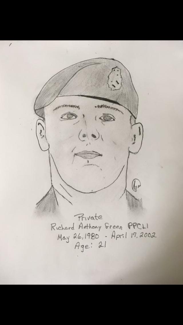 Personal sketch of fallen comrade