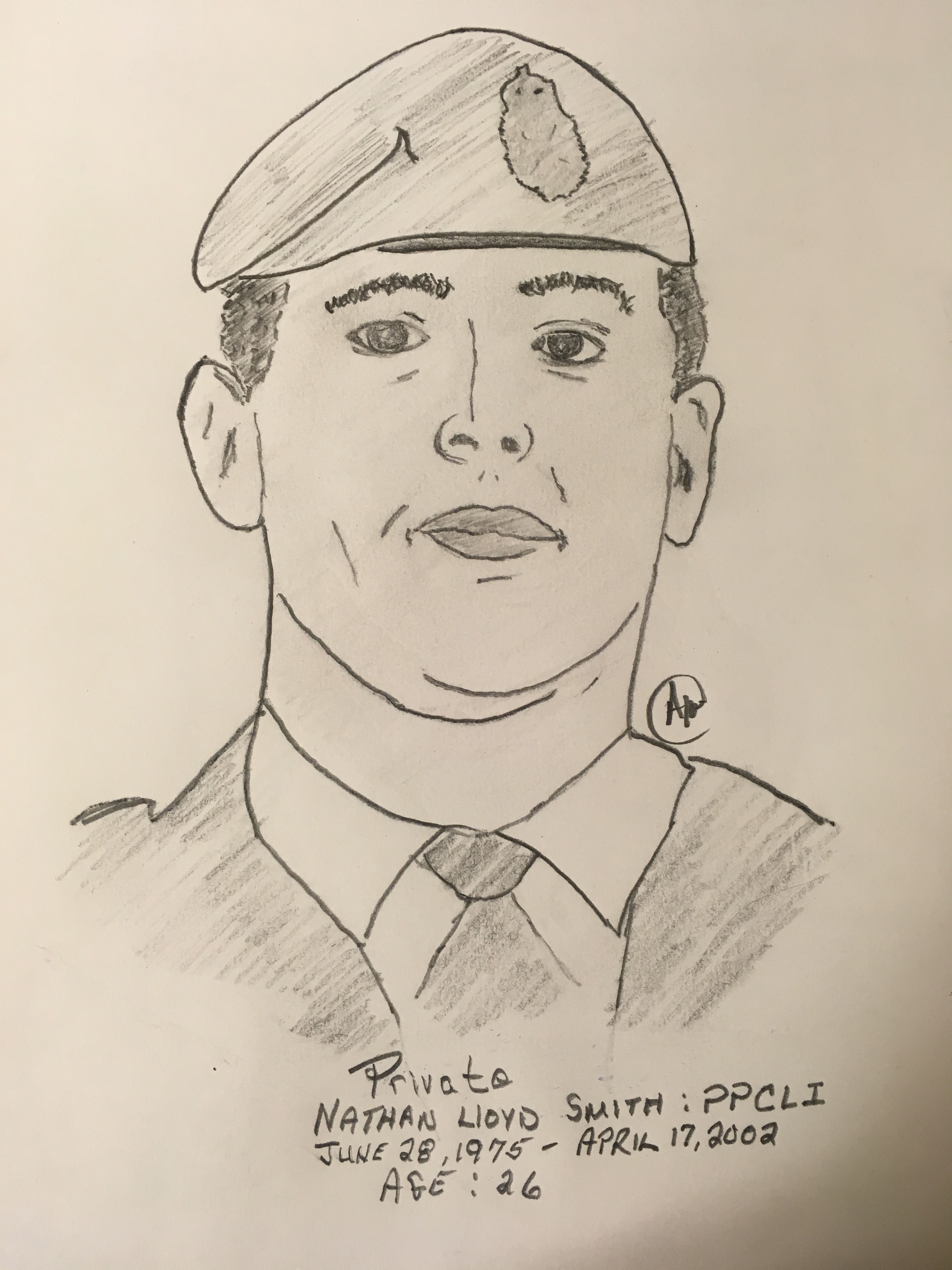 Personal sketch of a fallen comrade