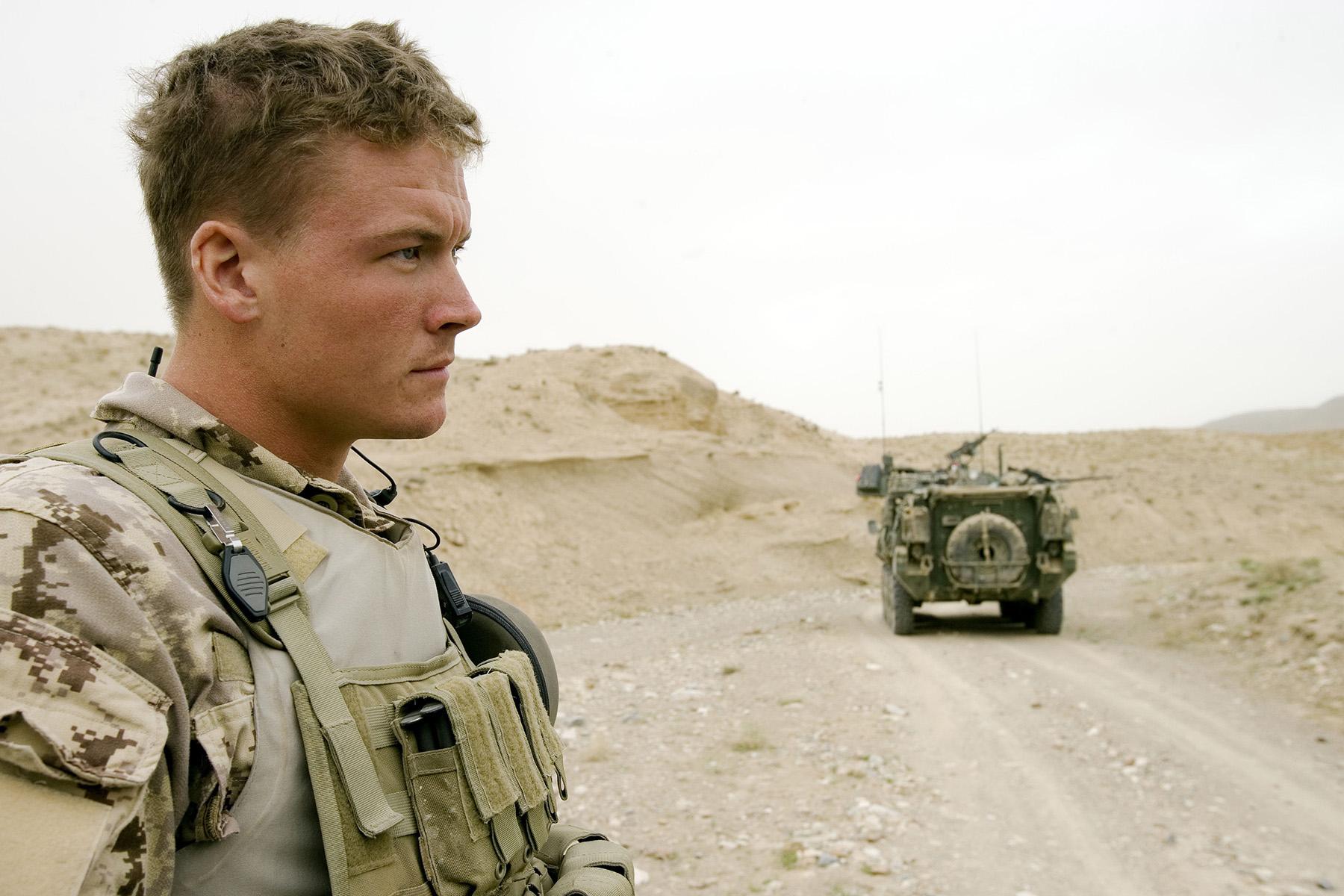 Photo of Matthew Dinning – On Patrol around Kandahar Airfield