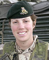 Photo of Nichola Kathleen Sarah Goddard – Captain Nichola Goddard, who was serving with the Princess Patricia's Canadian Light Infantry in Afghanistan, died in a military operation against Taliban forces.  (Courtesy of National Defence)