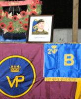 Memorial – A temporary memorial was set-up at Camp Nathan Smith for the memorial service held for Master Corporal Timothy Wilson and Corporal Paul Davis 