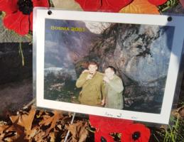 Group Photo – Corporal Paul Davis (right) Sergeant Shane Schofield (left) picture left at Shane's grave, just down from Paul's.