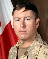 Photo of Frank Mellish – Warrant Officer Frank Robert Mellish, a member of 1st Battalion, The Royal Canadian Regiment, based in Petawawa, Ontario was killed on September 3, 2006 fighting against Taliban insurgents approximately 15 km west of Kandahar City.